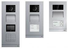 Nye moderne utendørsstasjoner i Welcome M systemet kommer i børstet aluminium!
